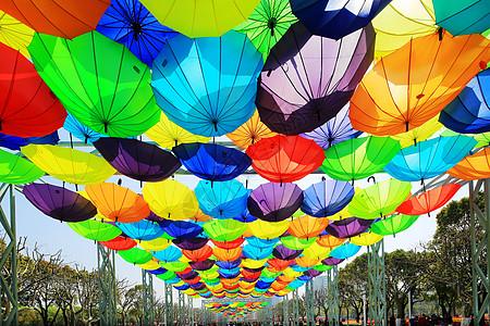 七彩风车花伞游乐园风景素材图片