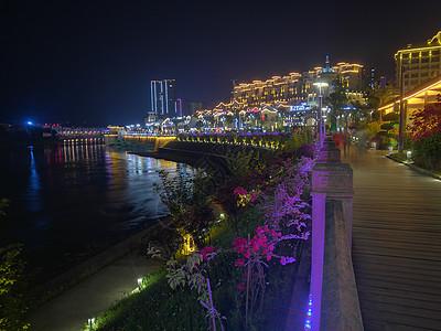 赤水市河滨西路夜景图片