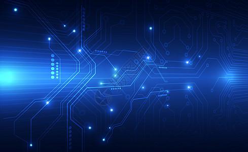 蓝色信息技术科技背景图片