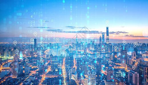 城市定位科技图片