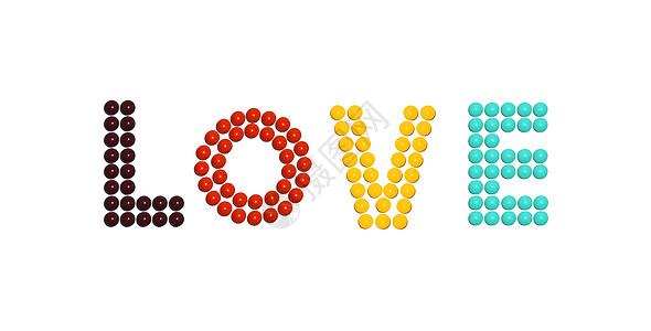 LOVE彩虹糖图片