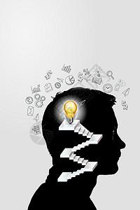 脑海中的科技概念思维图片