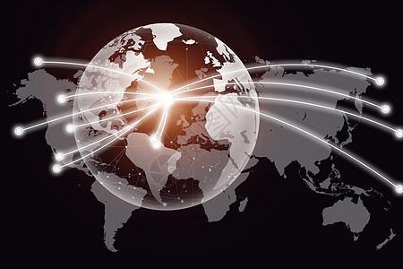 现代按钮的商业类型与世界地图图片