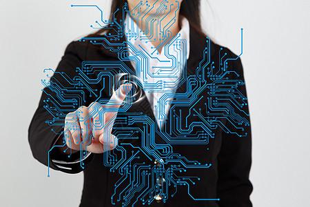 高科技指纹识别系统图片