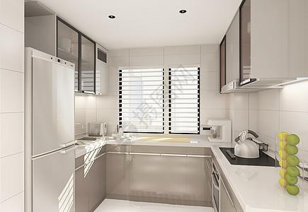 简洁的厨房效果图图片