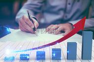 商务图表的上升趋势图片