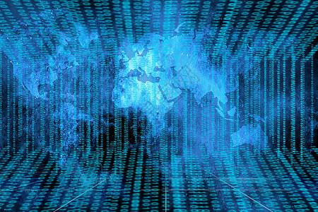 网络空间蓝色背景图片