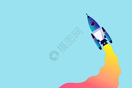 火箭起飞手绘图图片