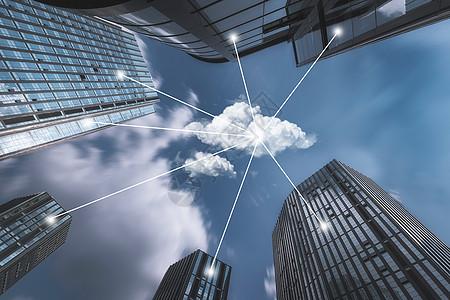 城市与云端图片