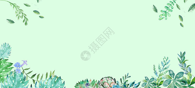 小清新banner背景图片