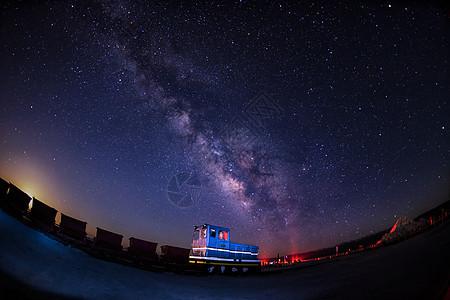 茶卡盐湖的星空图片