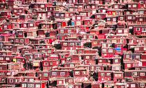 色达五明佛学院红房子佛教喇嘛图片