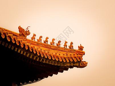 飞龙在天中式古建筑屋檐图片