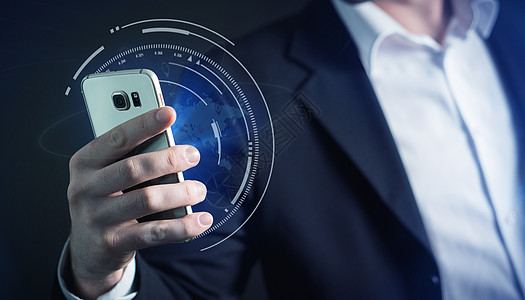商务人士手机查询搜索信息图片