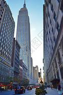 美国纽约街道高楼图片