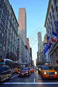 美国纽约金融街街道图片