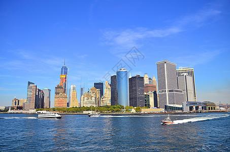 美国纽约曼哈顿天际线图片