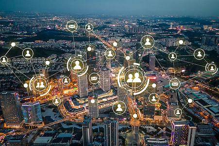 发散信号的城市图片
