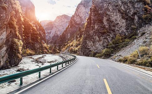 川藏公路背景图图片