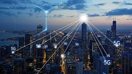 夜幕下的城市图片