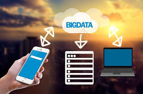 手机电脑大数据电子云下载图片