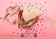 爱心购物车促销狂欢图片