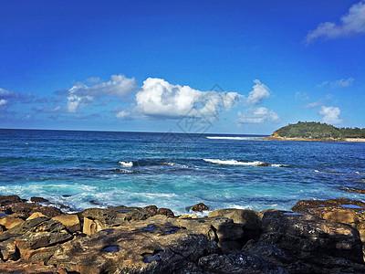 在海岸边记录下的悉尼蓝图片