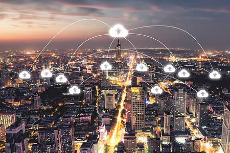 科技云城市图片