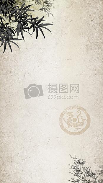 古风竹子海报背景