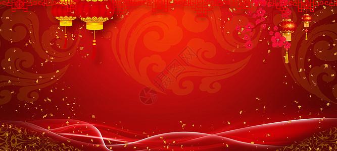 大红新年背景图片