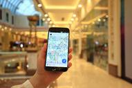 商场里面手机看地图图片