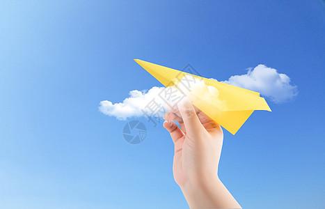 纸飞机蓝天梦想图片