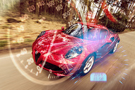 红色汽车图片