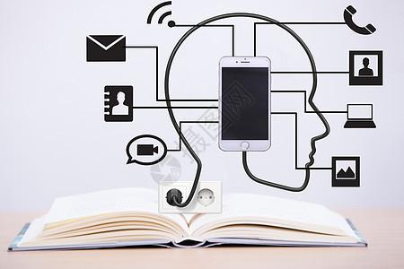 书本上的人脑手机功能图片