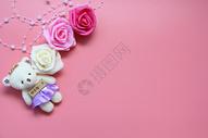 爱情主题粉色背景图片