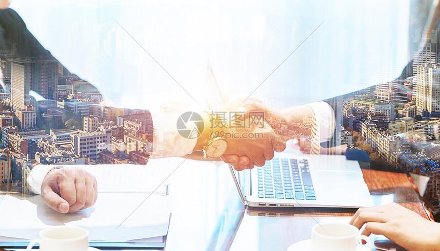 握手商务合作图片