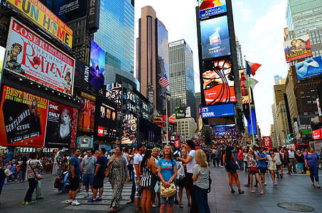 美国纽约时代广场街道图片
