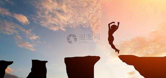 跳跃的人图片