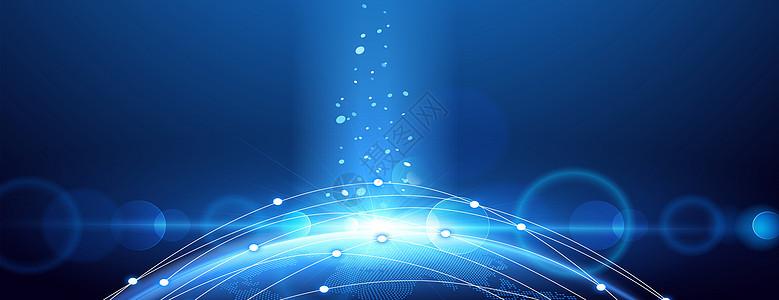 全球信息科技蓝色背景图片