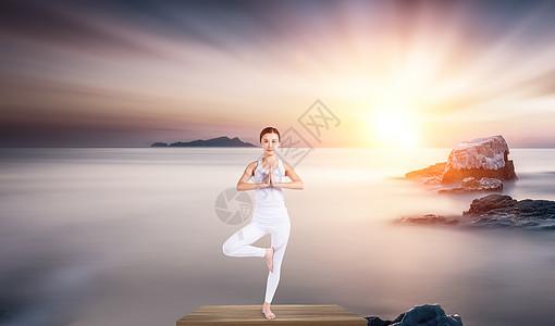 瑜伽减压图片