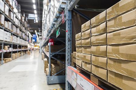 物流家具包装盒子货柜仓库图片