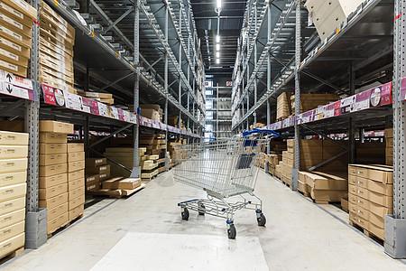 物流家具包装货柜手推车仓库图片