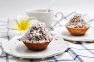 小甜品榛子巧克力樱桃挞图片