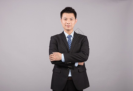 商业成功人士人像思考手势图片