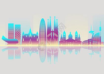 智能城市科技炫酷背景图片