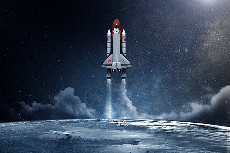 火箭升空图片