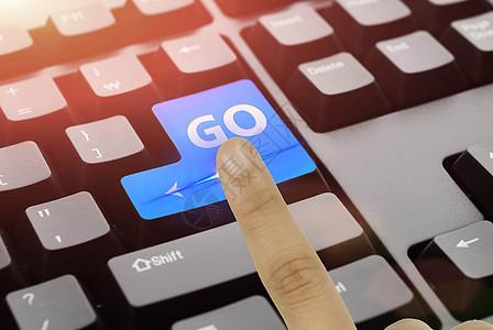 点击键盘上的go图片