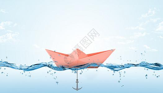 纸船与锚图片