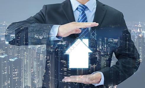 商务手势城市住房保障图片