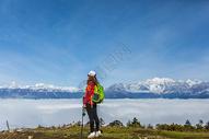 贡嘎雪山户外徒步图片